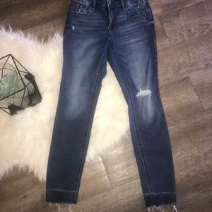Rockstar Super Skinny Jean Distressed Sz4